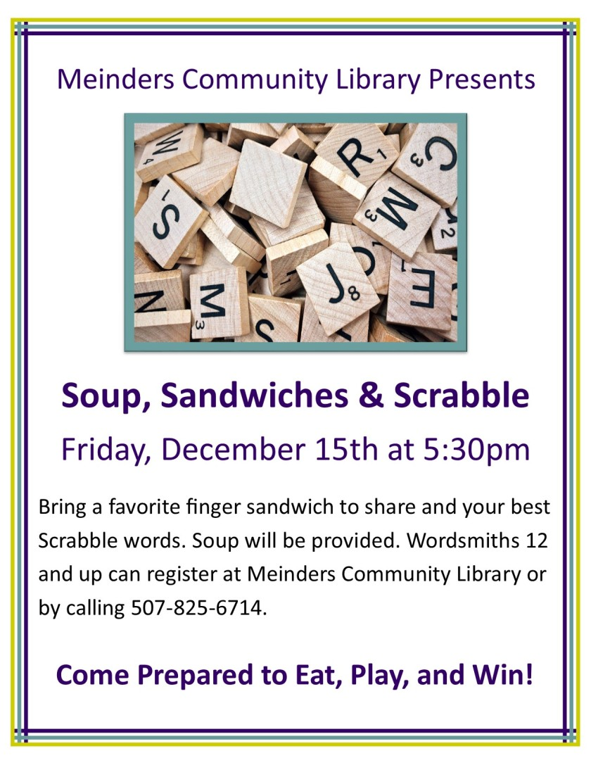 Soup Sandwiches Scrabble