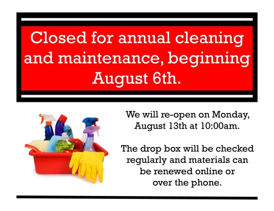 Closed for Cleaning
